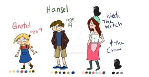 hansel and gretel line up by KaLixel