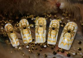 art 172_ Gold spiders by KaterinaRaed