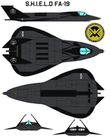 S.h.i.e.l.d Fa-19 Stealth Fighter by bagera3005