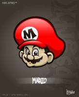 MrAfro58 - Mario by jpnunezdesigns
