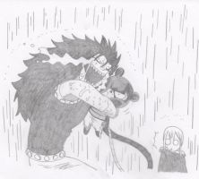 Fairy Tail, Gajeel and Lily (and Lucy) by DeeTeaGirl