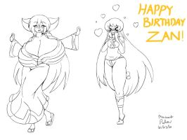 Mai And Terri Bday Sketch by Anubis2Pabon288