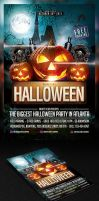 Halloween Party Flyer Template by saltshaker911
