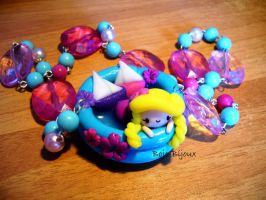 "Necklace ""Swimming Pool"" by Bojo-Bijoux"
