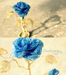 Gold and blue by beads-poet