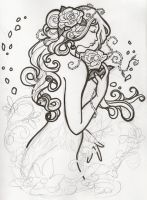 WIP Poison Ivy Mucha-esque by aichan25