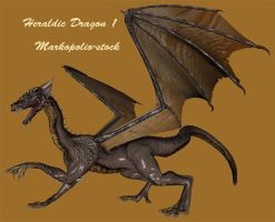 Dragon - Heraldic 1 -Feb 10 08 by markopolio-stock