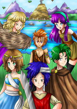 Farland Plains: Original Game cover art design by artycomicfangirl