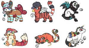 *Adoptable Creatures Batch *CLOSED by P0CKYY