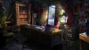 Otherworld 2 - desk by firedudewraith