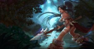 Nidalee (League of Legends fan art) by GeorgeStratulat