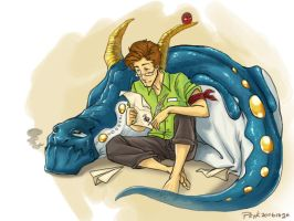 Joseph and the Dragon by PsychedelicMind