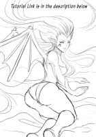 Basic Drawing Tutorial Dragon Babe PART 1 by magion02
