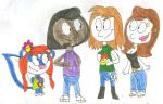 Myles, Frank, Annette and Jackie good friends by SithVampireMaster27