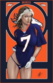 Broncos fan by thepenciler