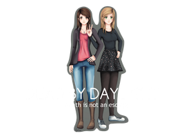 Tyraphine and Becci + Speedpaint by ViciScribbles