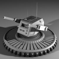 Sci Fi Turret WIP by 2753Productions