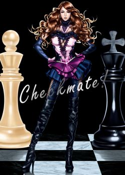 Checkmate! album cover drawing by rondeu
