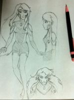 Starfire remake sketches by avaelle95