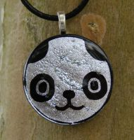 TWEWY Lucky Panda Fused Glass by FusedElegance