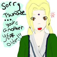 happy birthday tsunade by tsunadeboo22