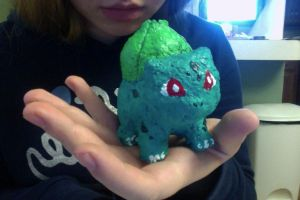 Paper Mache Bulbasaur! by xAarrowARTx