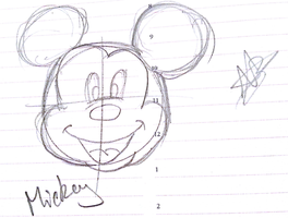 Mickey Mouse sketch first try by kickerkitten