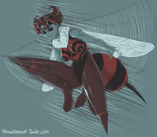 Sketchy Stuff: Q-Bee by Pltnm06Ghost