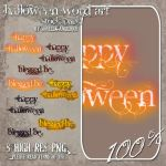 Happy Halloween Word Art by angellella-stock
