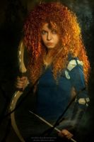 Merida - Brave in the woods by shua-cosplay