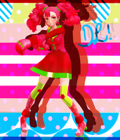 [MMDxnewcomer] TDA Styled Raspberry*Monster- DL! by Pocky-Poison