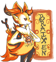 Braixen by ApplejackMan