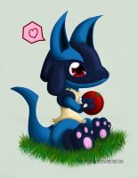 Lucario wants to share by Spirit-Candy