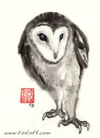 Barn Owl Ink by Foxfeather248