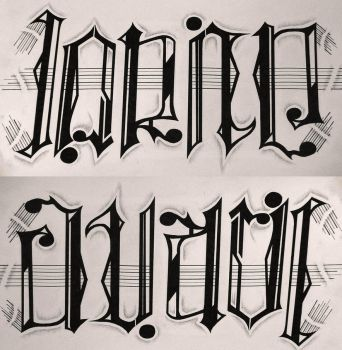 Name Ambigram by avarie-shy