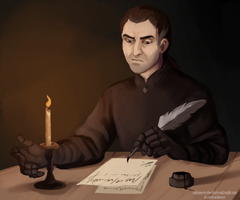 Lucien at his working place by Rita-Sanderson