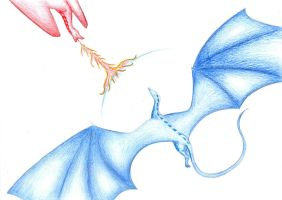 Saphira and Thorn by XxDragonheart100xX