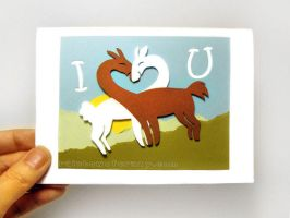 Llama Love by sobeyondthis