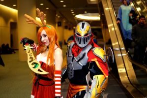 Slay Bell Kat and Zed Dec Toronto Comic Con 2014 by Lightning--Baron