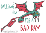 Calling in for a Bad Day Print (White) by Cougarmint