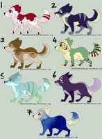 Canine adoptables- Open by HidesBehindThings