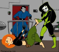 Shego tickles Kim by solletickle