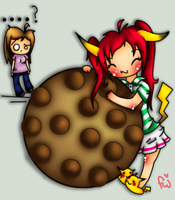 Lisaaa and her cookie by Fuzzi-Wuzzi