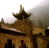 Xian-Mountainside building by margsifrenia13