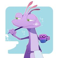 Randall who is brushing teeth by asumachimu