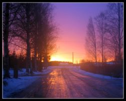 Winter Road by Mrichston