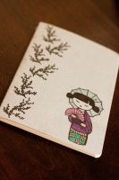 Geisha Moleskine by HappyPenguinArt
