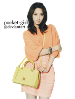 SNSD - Yoona: Candy Bag PNG Render by pocket-girl