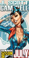 JSC at SDCC 2011 by J-Scott-Campbell