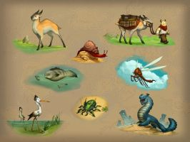 Creature Concepts by corndoggy